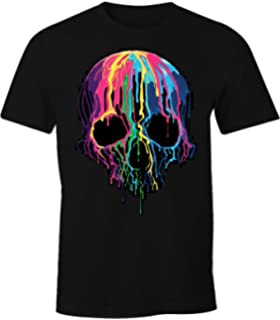 Tee Shirt Tete De Mort Homme Swag Musique Rock Skull Avec