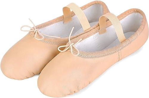 Amazon.com: SanLai - Zapatillas de piel, ballet, para yoga ...