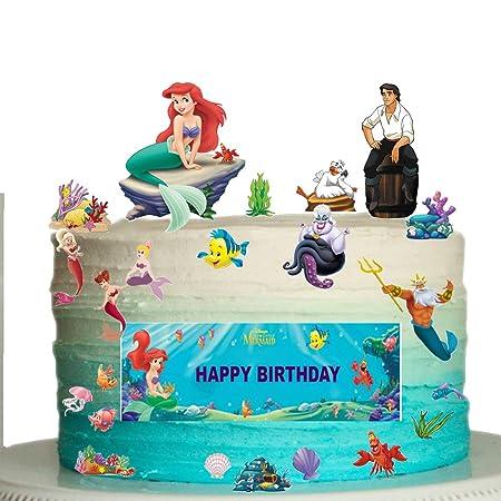 Diseño de la Sirenita de cumpleaños para colocar sobre la ...