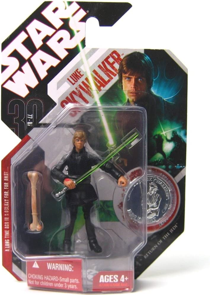Amazon Com Star Wars 30th Anniversary Luke Skywalker Jedi Knight Action Figure 25 With Coin Toys Games