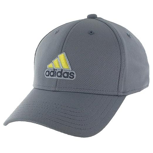 4fe7c3c100cd3 Amazon.com: adidas Men's Closer Stretch Cap, Tech Grey/Vivid Yellow ...
