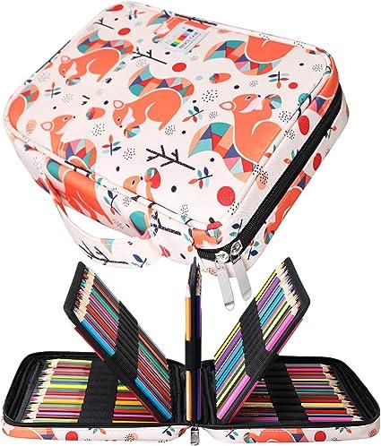 Jakago - Estuche para Lápices de Colores con Capacidad para 220 Lápices de Colores, Bolsa Impermeable para Lápices de Acuarela, Marcadores y Bolígrafos de gel, Gran Regalo para Estudiantes Artistas: Amazon.es: Oficina