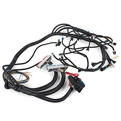 HPI 1997-2006 LS1 STANDALONE HARNESS 4.8 5.3 6.0 VORTEC (T56 non electric trans)(DRIVE BY CABLE)(RED/BLUE PCM & EV1 FUEL INJECTOR CONNECTORS, email us if multec/delphi or ev6 needed: Automotive