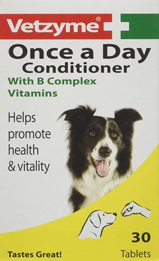 Pet Supplements And Vitamins : Amazon.com: Vetzyme One A Day Conditioning Tablets, 30 Tablets
