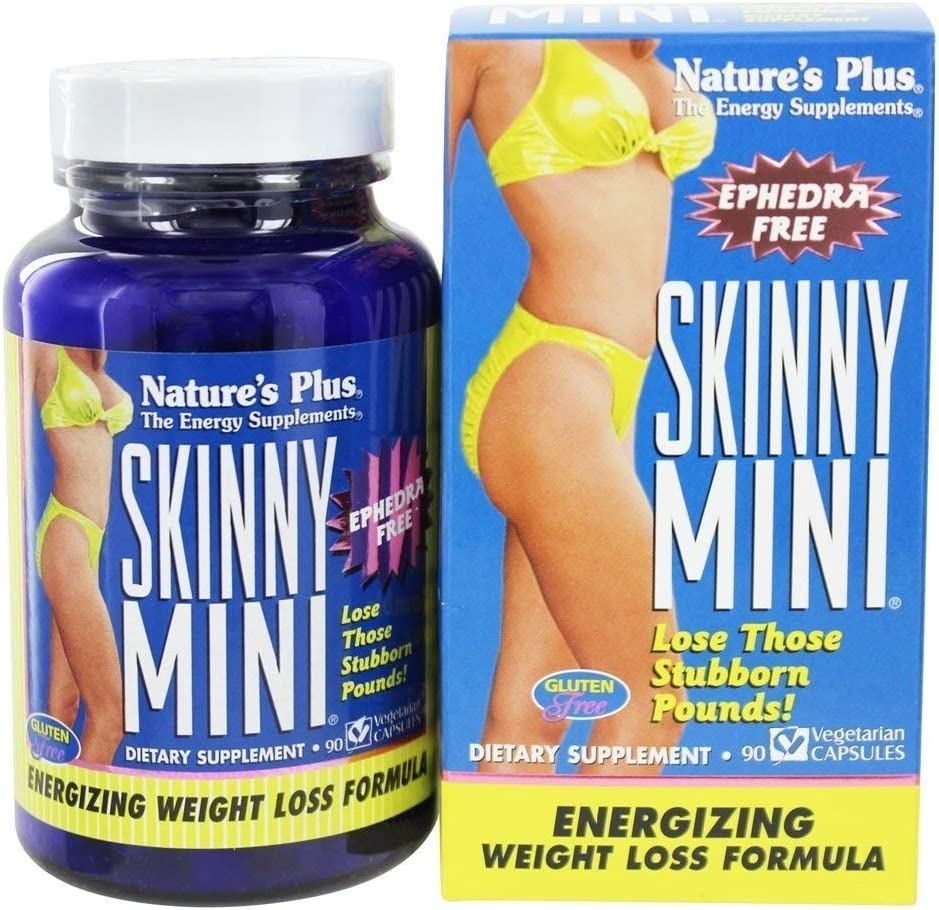 NaturesPlus Skinny Mini – 90 Vegetarian Capsules – Natural Weight Loss Support Supplement, Appetite Suppressant, Metabolism Booster – Gluten-Free, Ephedra Free – 45 Servings