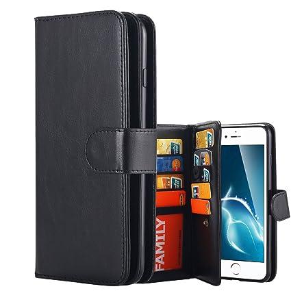 9 card detachable wallet case iphone 7 plus
