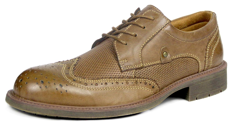 SimpleC Herren Atmungsaktive Vintage Leder Schnürenkel Oxford Oxford Oxford Schuhe Hell Braun 2431c0