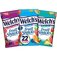 Welch's Fruit Snacks, Variety Pack with Mixed Fruit, Island Fruits & Berries 'n Cherries, Gluten Free, 2.25 oz Bags…