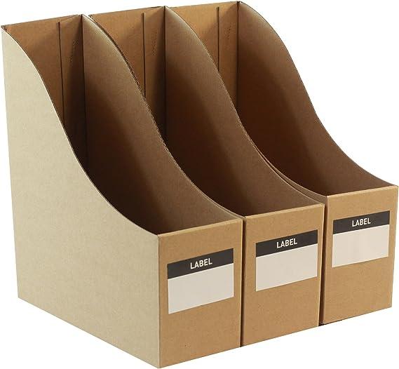 Organizadores de escritorio de cartón para archivos, juego de 3 ...