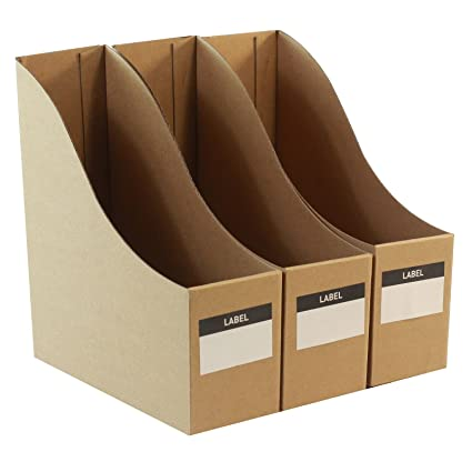 Organizadores de escritorio de cartón para archivos, juego de 3