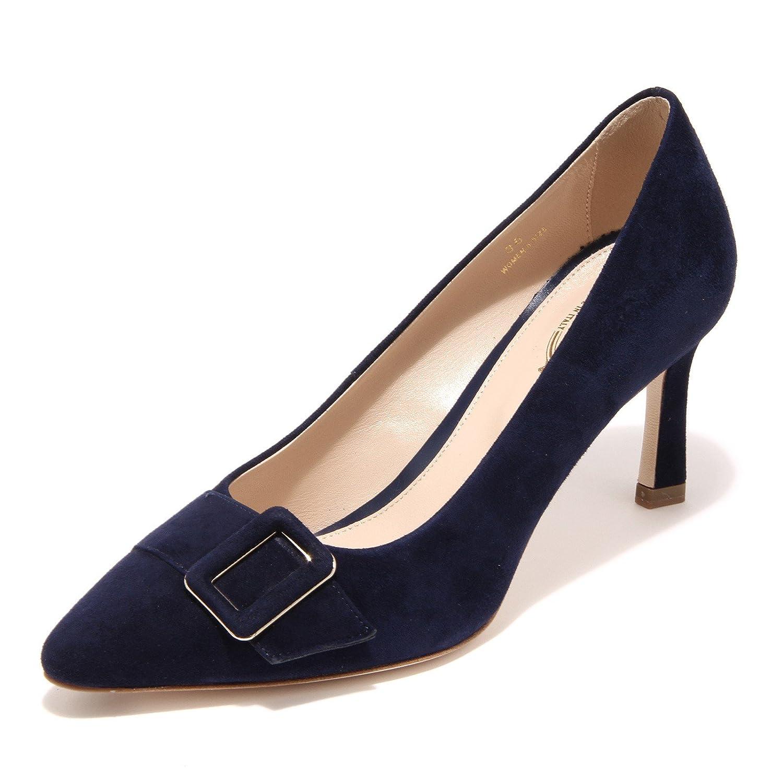 Tod's 95945 Decollete Blau T75 SC Fibbia Pelle Scarpa damen schuhe damen