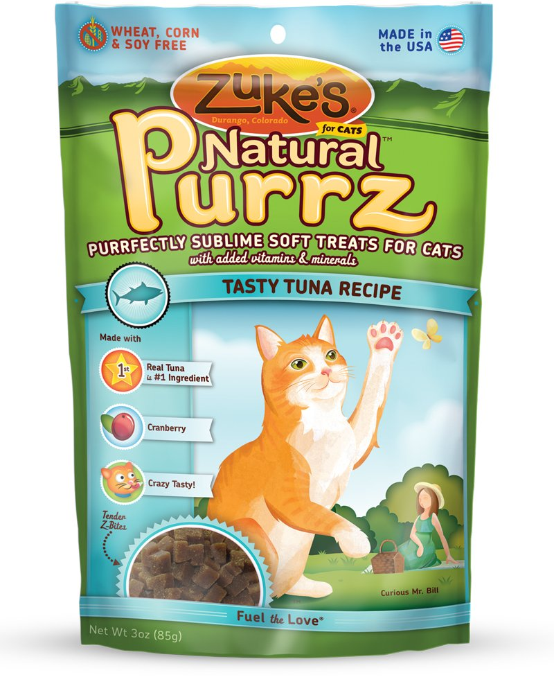 Zuke'S Natural Purrz Cat Treats, Tasty Tuna Recipe, 3-Ounces