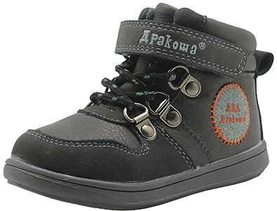 Apakowa Toddler Boys Casual Boots (Color : Black, Size : 4 UK/EU