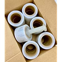 """AVG Packaging Supplies - 18-Pack - Stretch Pallet Wrap, 3"""" Inch X 1000 Ft, 80 Gauge, 3"""" Core Clear Shrink Banding Film Roll, Furniture, Boxes, Pallets, Industrial Strength, Made in USA"""