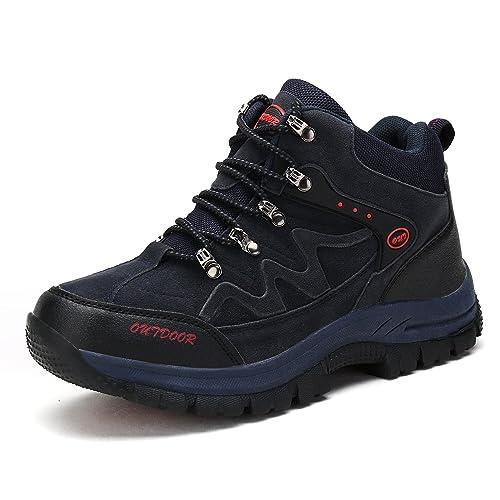 Zapatillas de Trekking para Hombres Mujeres Zapatillas de Senderismo Unisex Botas de Montaña Antideslizantes AL Aire Libre Sneakers Zapatillas de Deporte: ...