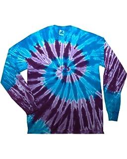 11b5b27d3bddec Amazon.com  Tie Dyed Shop Rainbow Sleeves on Black Tie Dye T Shirt ...