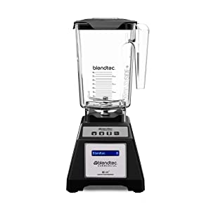 Blendtec E300A0801-A1GA1A EZ 600 Professional Blender with Four Side Jar (75 oz.), Self-Cleaning, 3 Preprogrammed + Pulse Cycles, Customizable Presets, Black