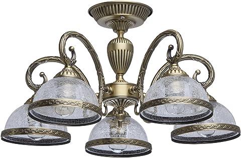 Antike 1 flammige Tischleuchte aus messingfarbigem Metall mattweißer Glasschirm