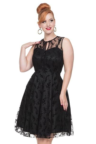 Vestido con Volantes Penny de Voodoo Vixen de estilo Vintage Retro 50s para fiesta Cena de