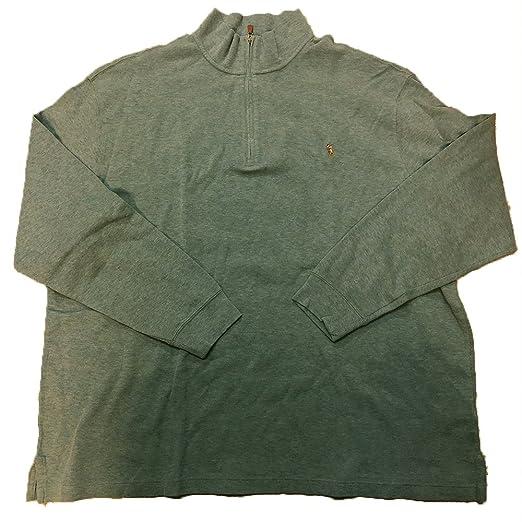 da558dc5d RALPH LAUREN Polo Men s Estate-Rib Cotton Mock Neck Half Zip Pullover  Sweater (3LT