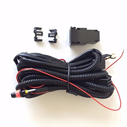 amazon com ledin 899 880 12v 30a fog light wiring harness relay kit rh amazon com Headlight Relay Wiring Diagram 89 Mustang Headlight Wiring Harness