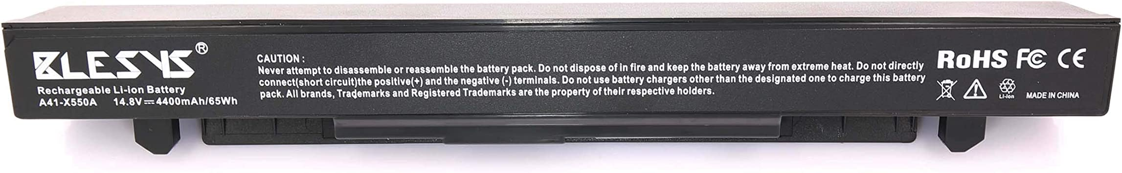 BLESYS 4400mAh A41-X550A Batería para portátil ASUS X550 X550C X550CA X550CC X550CL X550E X450J X452V X550EA X550L X550LA X550LB X550LC X550LD X550V X550VB X550VC X550VL X552C X552CL: Amazon.es: Electrónica