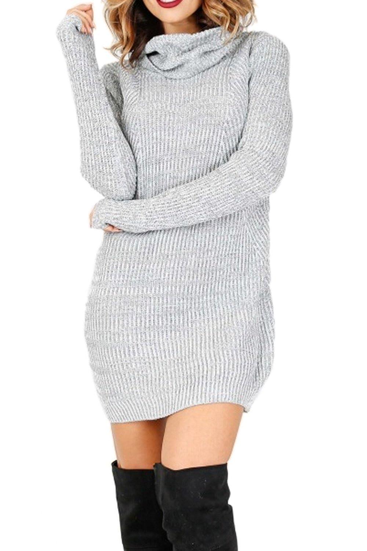 f709af32628d Maglie Donna Autunno Inverno Eleganti Maglione Vestito Collo Alto Lana  Maglietta Dolcevita Moda Sweater Turtleneck Irregolare ingrandisci