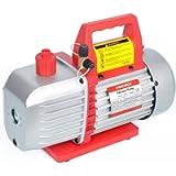 Kozyvacu 5CFM 2-Stage Rotary Vane Vacuum Pump (5.0CFM, 40Micron, 1/2HP) for HVAC/Auto AC Refrigerant Recharging…