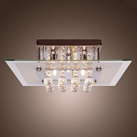 LightInTheBox Comtemporary Crystal Drop Flush Mount Lights with 5 ...