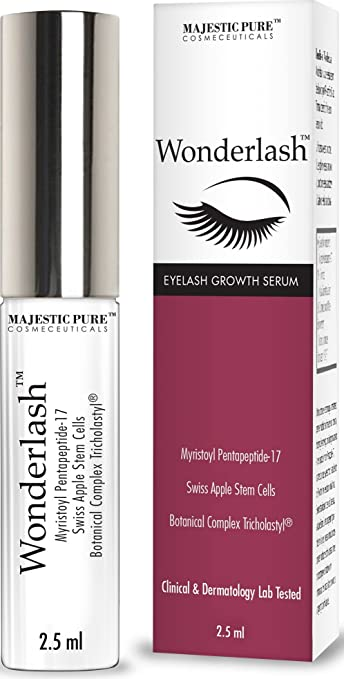 Majestic Pure Eyelash Growth Serum WonderLash - 2.5ml Cutting Edge Myristoyl Pentapeptide-17