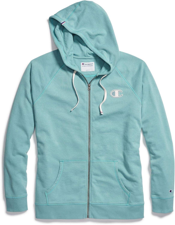Champion Womens Heritage Fleece Full Zip Hooded Sweatshirt