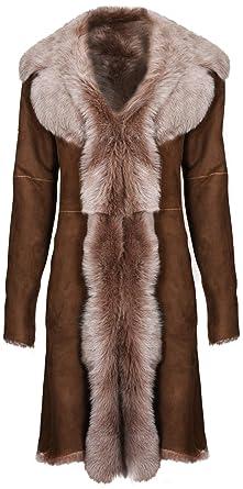 Infnity Leather Chaqueta de Gamuza Marrón de Ante de Piel de Oveja Real Toscana para Mujer: Amazon.es: Ropa y accesorios