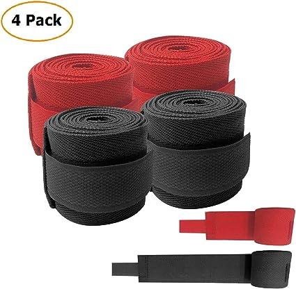 Noir et rouge boxe Bandage de boxe /à la main Wraps Coton /à la main Bandage Sangles de poignet bandages Bandage Armguard pour boxe Muay Thai Taekwondo Fighting 2.5 metre//248,9 cm 2pairs