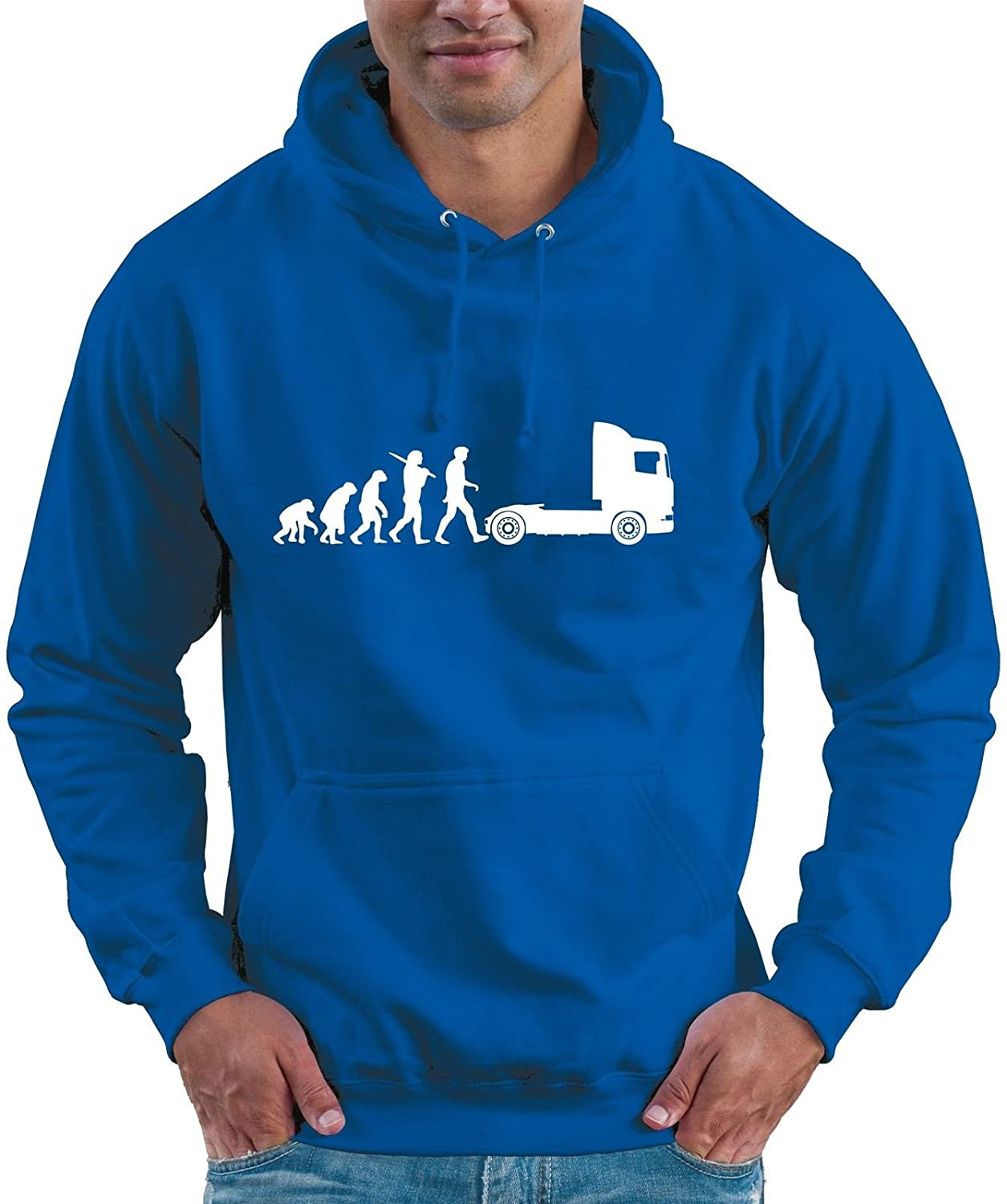 Evolution of Trucker Man Lorry Truck Driver Hoodie Hooded Top