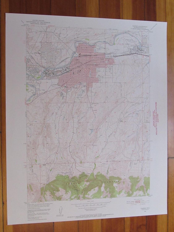 Amazon.com: Casper Wyoming 1955 Original Vintage USGS Topo Map ... on