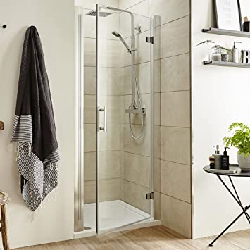 hinged reversible bathroom outward opening shower door sizes from 700mm900mm chrome frame 760mm