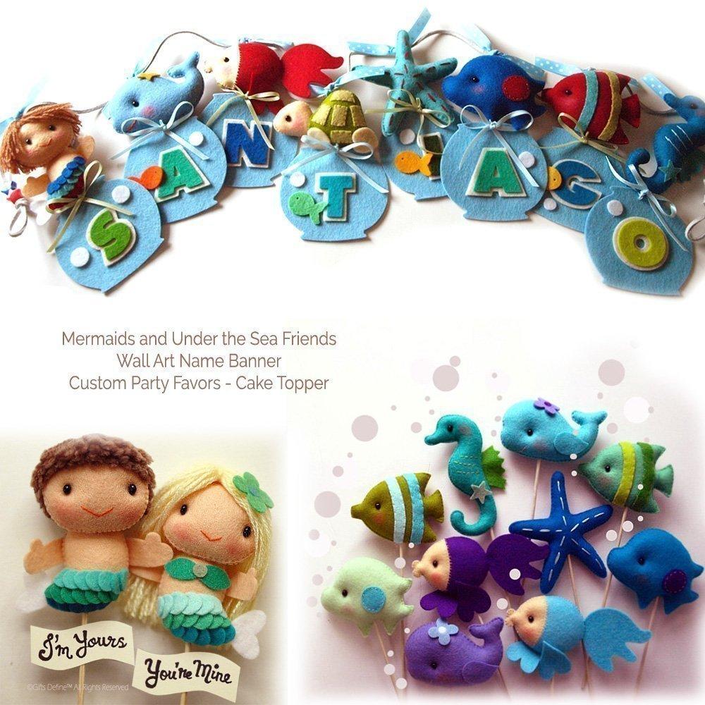 Oceanography, Whale and Under the Sea Fish | Handmade Nursery Decor Mobile