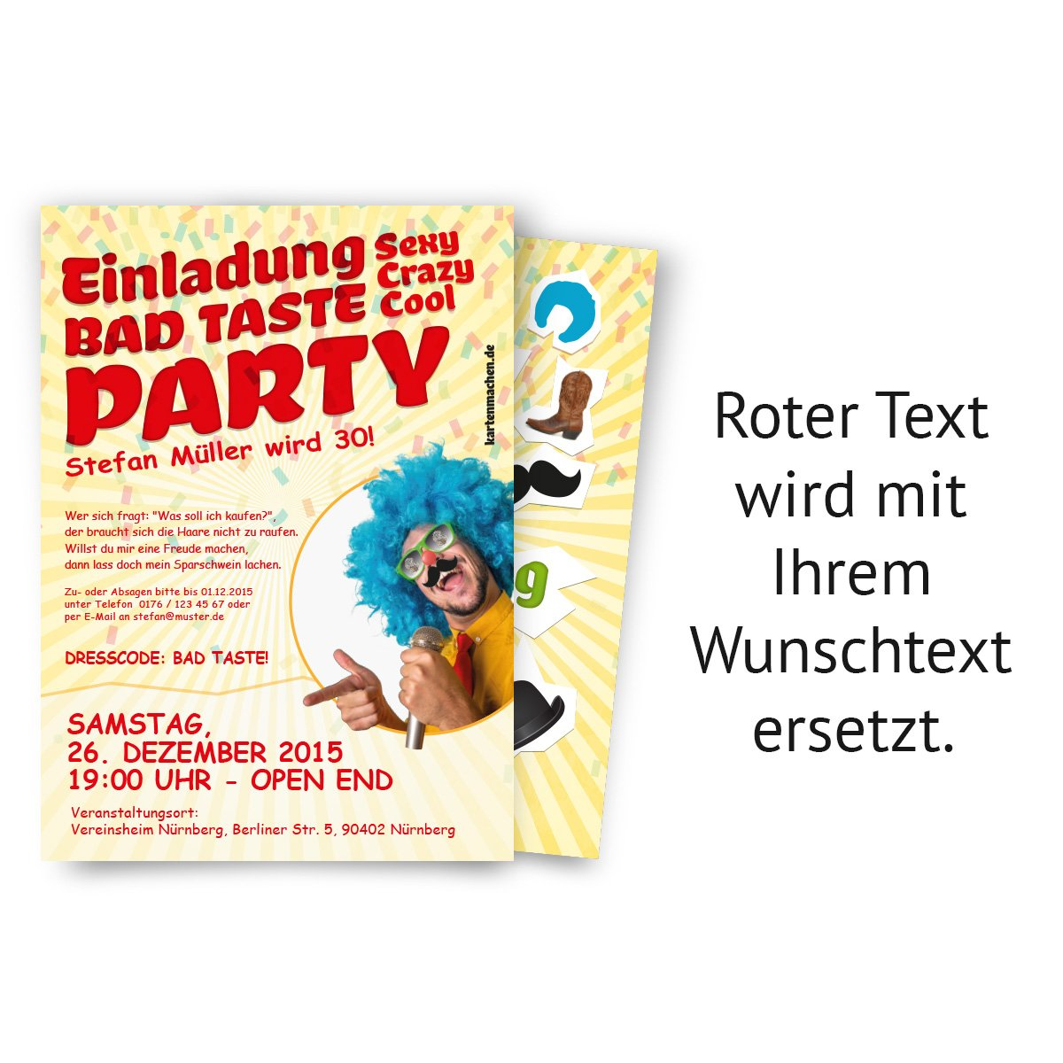 Schön Invitations (Pack Of 40) Happy Birthday Bad Taste Costume Party Fancy Dress  Party Invitations: Amazon.co.uk: Office Products
