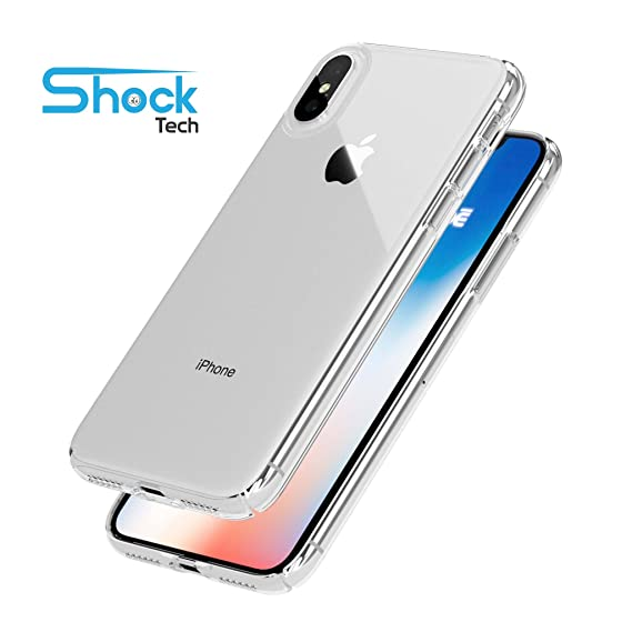 Image Unavailable. Image not available for. Color  Shock Tech iPhone X Clear  Slim Case Thin Soft Gel Absorbing Transparent Silicone TPU ... 4895237a01