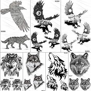 Tatuajes Temporales Adultos Tatuajes Temporales Tribales Águila ...