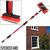 Voche® 3 Metre Triple Section Telescopic Extending Water Fed Wash Brush with Squeegee