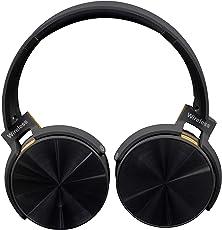 NEXGADGET Auriculares Inalámbricos Audífonos Bluetooth de Diadema Manos Libres Giratorios Plegables Compatibles Antiruido Funciones Múltiples Negro