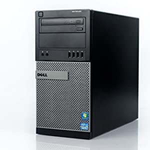 "Dell Optiplex 9020 Mini Tower Desktop PC, Intel Core i7-4770, 16GB Ram, 2TB SATA Drive + 256GB SSD WiFi, DVD-RW, Dual 22"" LCD, Windows 10 Pro (Renewed)"