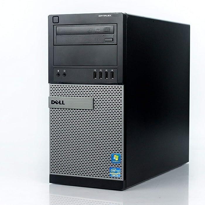 """Dell Optiplex 9020 Mini Tower Desktop PC, Intel Core i7-4770, 16GB Ram, 2TB SATA Drive + 256GB SSD WiFi, DVD-RW, Dual 22"""" LCD, Windows 10 Pro (Renewed)"""