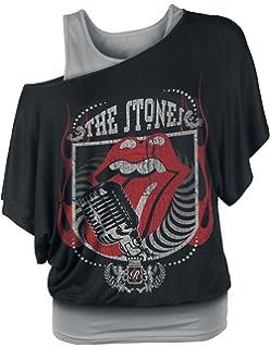 S-XL World Tour Schwarz Amplified Rolling Stones Damen Tank Top