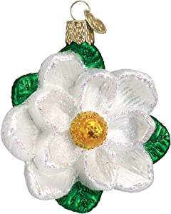 Old World Christmas Garden Gifts Glass Blown Ornaments for Christmas Tree Magnolia