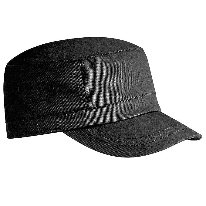 755c1da1da1 Beechfield Unisex Organic Cotton Army Cap (One Size) (Black)  Amazon ...