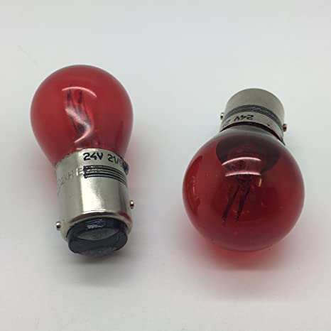 2 x 334 Red P21/5W Brake Stop & Tail Light Bulb 334R 294 24v