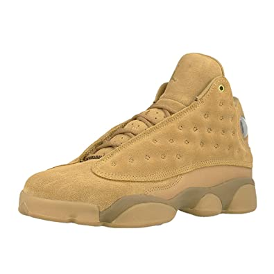 a6a58cd1472 Image Unavailable. Image not available for. Color: Nike Kids Air Jordan 13  Retro BG Wheat Basketball Sneakers (Elemental Gold/Baroque Brown