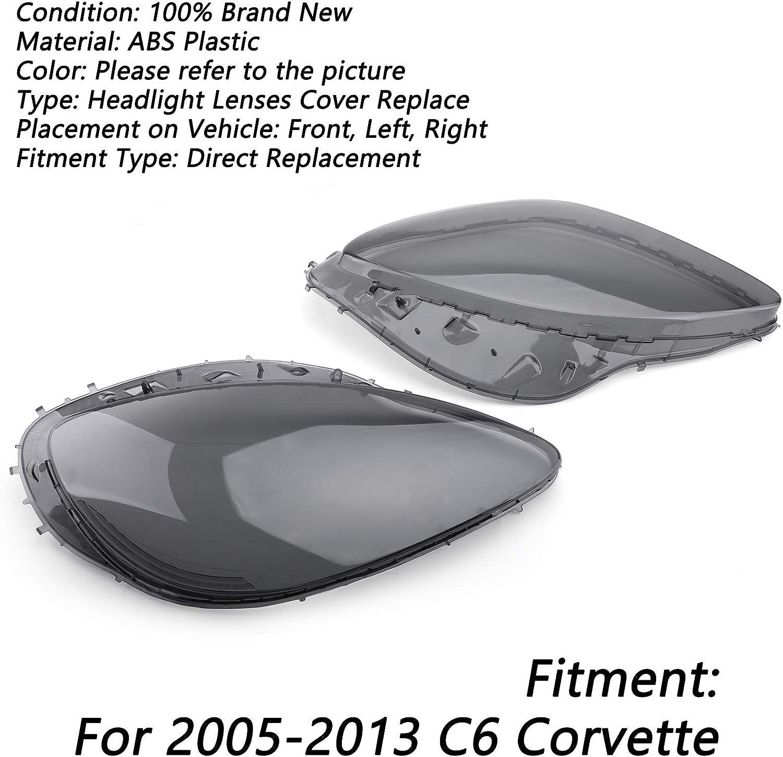 Artudatech Pair Headlight Lenses Replacement Smoke Covers & Black ...